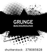 paint black.grunge spotted... | Shutterstock .eps vector #378085828