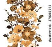 seamless vector floral pattern... | Shutterstock .eps vector #378085993