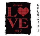 slogan print tartan pattern   Shutterstock .eps vector #378092053