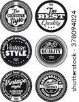 black and white vintage labels... | Shutterstock .eps vector #378094024