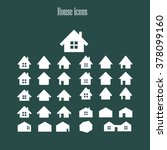 houses icons set. real estate.... | Shutterstock .eps vector #378099160