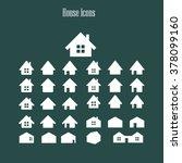 houses icons set. real estate.... | Shutterstock .eps vector #378099160
