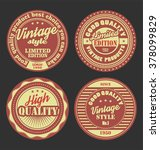 pastel color vintage labels... | Shutterstock .eps vector #378099829