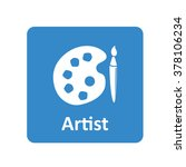 artist palette icon for web and ...
