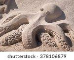 Sand Sculpture Of An Octopus On ...