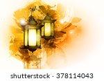 vector illustration ramadan... | Shutterstock .eps vector #378114043