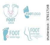 logo of center of healthy feet. ... | Shutterstock .eps vector #378117148