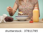 unrecognizable woman eating... | Shutterstock . vector #37811785