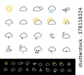 Weather Forecast Icons Vector...