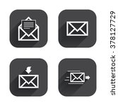 mail envelope icons. message... | Shutterstock .eps vector #378127729