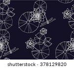 waterlilies and dragonflies... | Shutterstock .eps vector #378129820