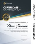 certificate template with... | Shutterstock .eps vector #378130930