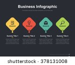 flat business presentation... | Shutterstock .eps vector #378131008