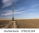 fracking rig in a colorado field