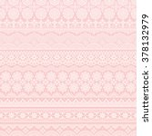 pink background of lace trims. | Shutterstock .eps vector #378132979
