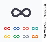 limitless sign icon. infinity... | Shutterstock .eps vector #378133360