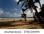 Lifeguard Tower Amid Palms On...