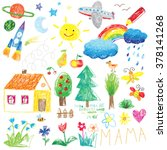 child drawing doodle set
