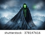 illustration of a grim reaper... | Shutterstock . vector #378147616