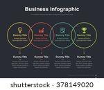 flat business presentation... | Shutterstock .eps vector #378149020