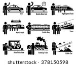 land public transportation... | Shutterstock . vector #378150598
