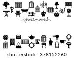 house moving greeting card.... | Shutterstock .eps vector #378152260