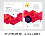 vector geometric abstract... | Shutterstock .eps vector #378163066