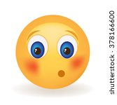 embarrassed smiley face  | Shutterstock .eps vector #378166600