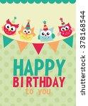 happy birthday card design.... | Shutterstock .eps vector #378168544
