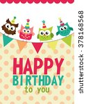 happy birthday card design.... | Shutterstock .eps vector #378168568