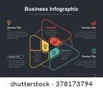 flat business presentation... | Shutterstock .eps vector #378173794