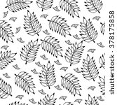 seamless floral hand drawn... | Shutterstock .eps vector #378175858