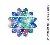 chakra anahata icon  ayurvedic... | Shutterstock .eps vector #378181090