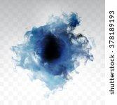 vector blue cloud. floral... | Shutterstock .eps vector #378189193