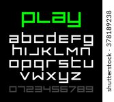 old style video game font ... | Shutterstock .eps vector #378189238