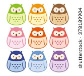 colorful owl | Shutterstock .eps vector #378189904