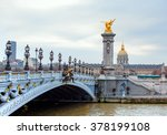 alexandre iii bridge  paris... | Shutterstock . vector #378199108