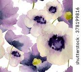 Flowers Seamless Pattern With...
