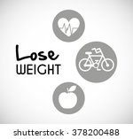 lose weight design  | Shutterstock .eps vector #378200488