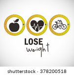 lose weight design  | Shutterstock .eps vector #378200518
