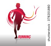 running man logo and symbol.... | Shutterstock .eps vector #378201880