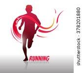 running man logo and symbol.... | Shutterstock .eps vector #378201880