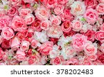 Stock photo soft color roses background 378202483
