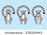 parent and child of ring tailed ... | Shutterstock .eps vector #378203443