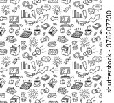 business themed doodle seamless ... | Shutterstock .eps vector #378207730