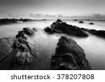 Long Exposure Seascape In Blac...