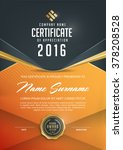 certificate template with...   Shutterstock .eps vector #378208528