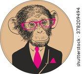 hand drawn vector portrait of... | Shutterstock .eps vector #378209494