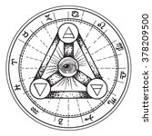 esoteric symbols | Shutterstock .eps vector #378209500