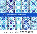 set of mexican stylized... | Shutterstock .eps vector #378215299
